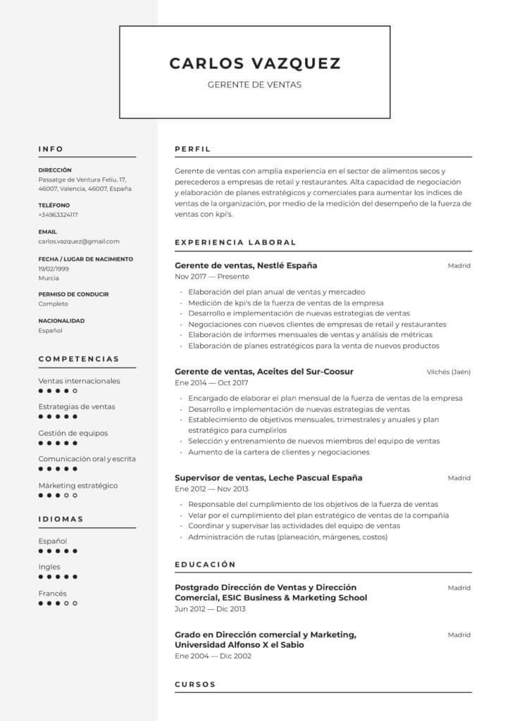 Modelo de Currículum