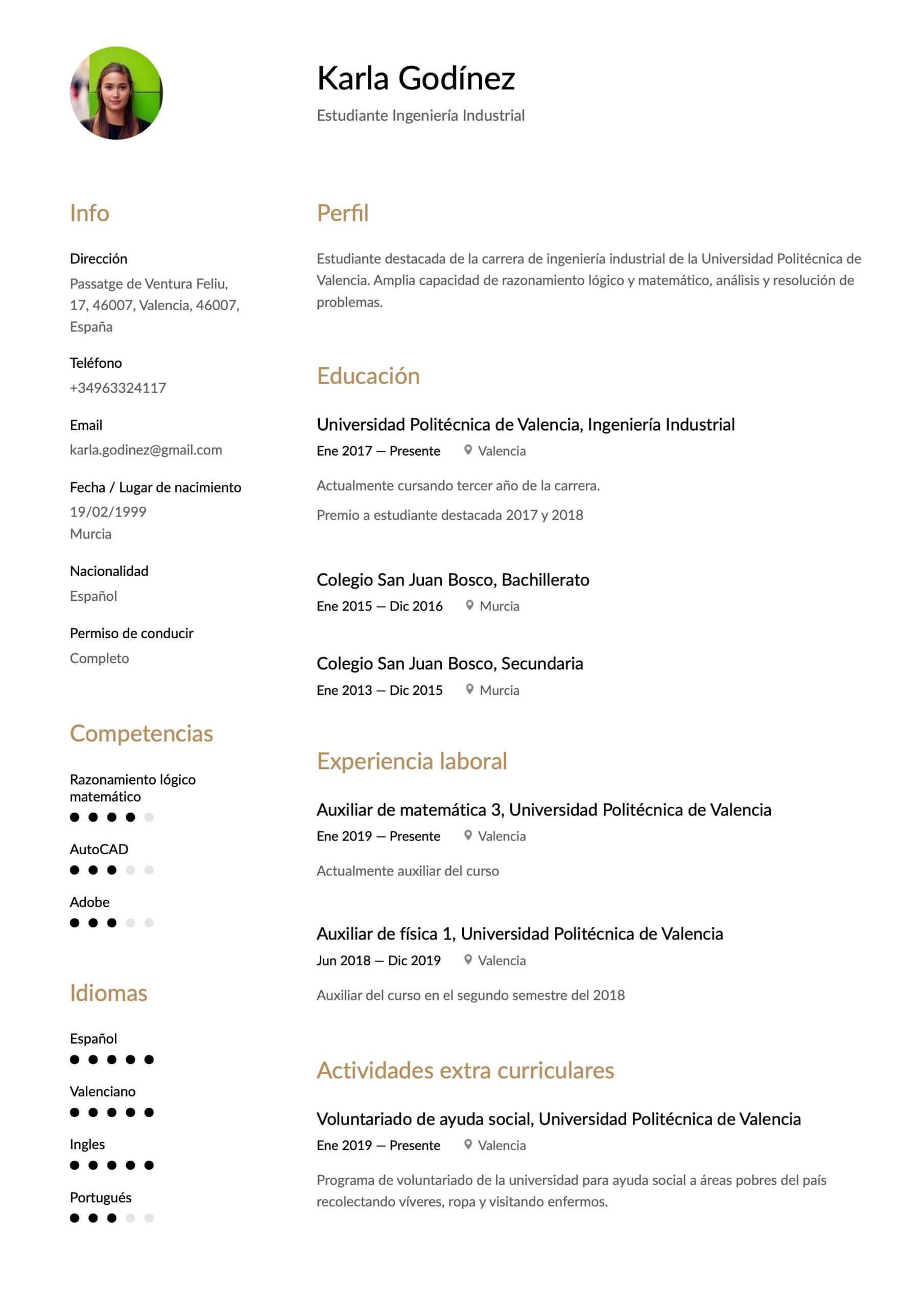 Cómo Hacer Un Currículum Sin Experiencia Laboral Ejemplos