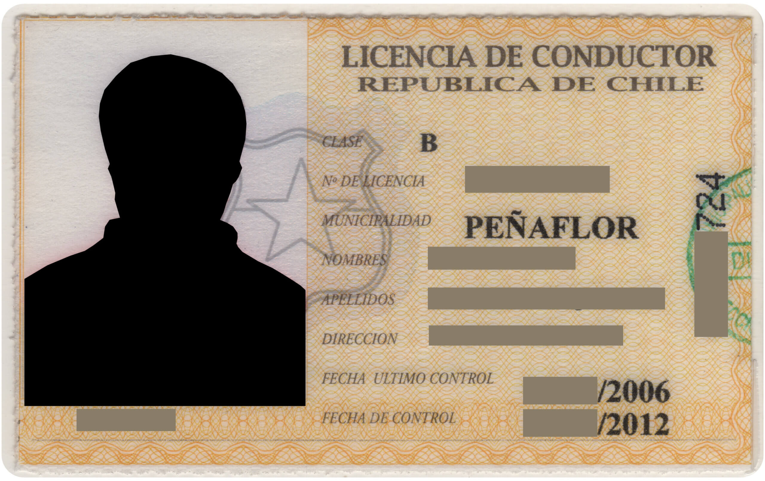 Carnet conducir Chile