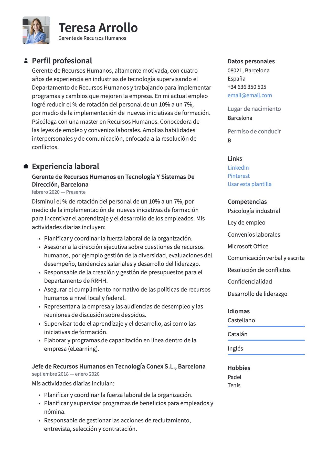 Currículum para Recursos Humanos